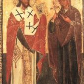 Shën Elefteri i Vlorës dhe nëna e tij Anthia