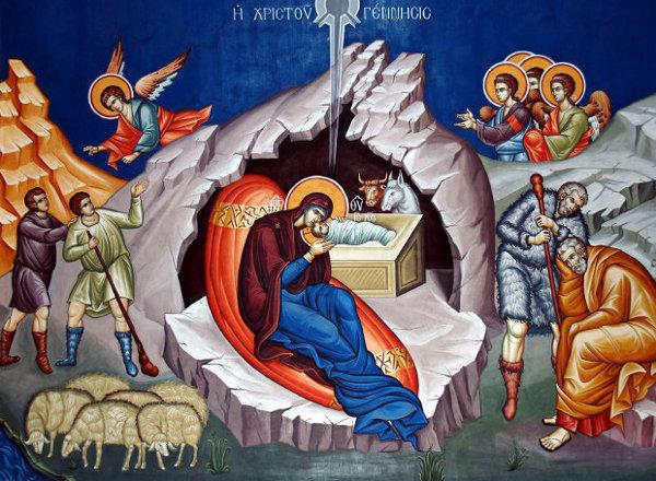 «Ja Krishti lind lavdërojeni;ja Krishti qiellit vjen dilni priteni;ja Krishti mbi dhenë ngrehuni» v.23