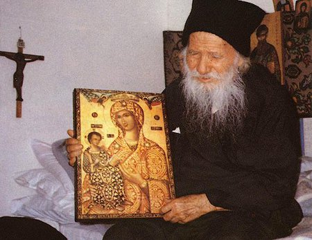 Biseda e Shën Porfirit me një djalë shpirtëror.
